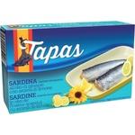 Sardine în ulei/ lămâie Tapas 120g