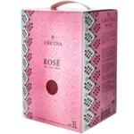 Вино розовое Cricova сухое Box 3л