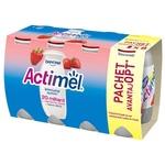 Iaurt de baut Actimel cu capsune 100ml 6+2buc