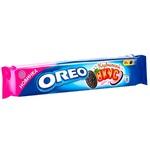 Biscuiți Oreo cu gust de cacao și crema căpșună 95g