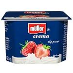 Crema de iaurt Muller cu capsuni 125g