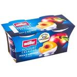 Йогурт Pezzi Muller персик/абрикос 2x125г
