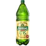 Пиво светлое Львівське 1715 ПЭТ 2,4л