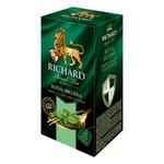 Ceai Richard verde in plicuri cu melisa 25 x 2g