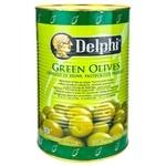 Оливки зеленые Delphi фаршированные перцем 2,5кг