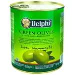 Оливки зеленые с косточкой Delphi 820г