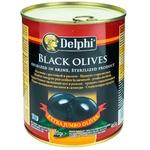 Маслины черные с косточкой Delphi 820г