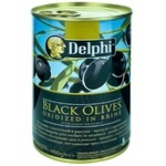 Masline negre Delphi cu simbure 261-290 400g