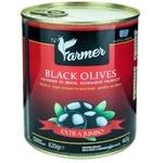 Маслины черные с косточкой Farmer Jumbo 820г