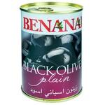 Маслины черные Benanai с косточкой 420г