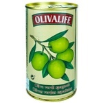 Оливки зеленые с косточкой 24/26 Olivalife 350г