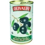 Маслины черные с косточкой 28/30 Olivalife 350г