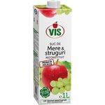 Сок яблочно-виноградный Vis осветленный без сахара 1л