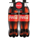 Bautura racoritoare carbogazoasa Coca Cola fara zahar PET 2x1,5l