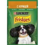 Hrana pentru câini Friskies Adult pui/morcov 100g