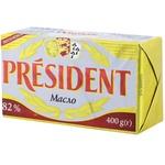 Масло President сливочное 82% 400г