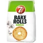 Pesmeți 7Days Bake Rolls cu gust de usturoi 80g