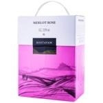 Vin Bostavan Merlot rose sec bag in box 3l