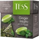 Ceai Tess verde in plicuri cu gust de mojito 20x2g