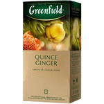 Ceai Greenfield Quince Ginger verde in plicuri 25x2g