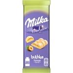 Ciocolata Milka alba aerata 79g