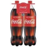 Прохладительный газированный напиток Coca-Cola ПЭТ 2x1,5л