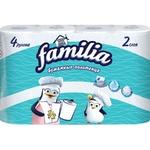 Полотенца бумажные Familia 2 слоя 3+1рул