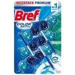 Odorizant WC Bref Aktiv Blue Eucalipt 3x50g