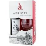 Винный набор Apriori Каберне/ Саперави красное сухое 0,75 л + бокал