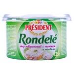 Сыр творожный Rondele President чеснок/травы 125г