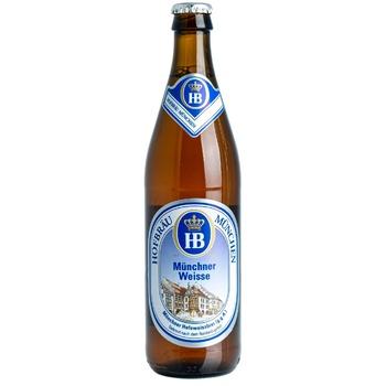 Пиво светлое нефильтрованное Hofbrau 0,5л - купить, цены на Метро - фото 1