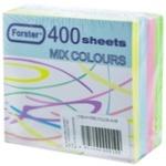 Бумага для заметок цветная 400шт