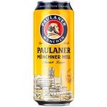 Пиво светлое фильтрованное Paulaner ж/б 0,5л