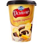 Десерт творожный Dolce банан/шоколад 350г