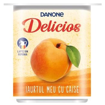 Йогурт Danone Delicios с абрикосами 125г - купить, цены на Метро - фото 1