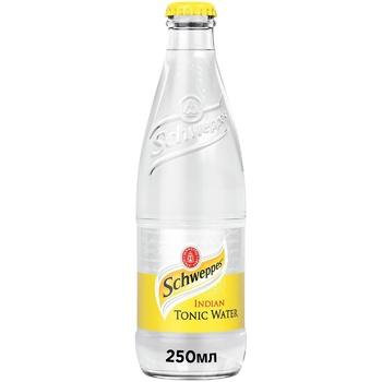 Напиток прохладительный газированный Schweppes Indian Tonic 0,25л x 12шт - купить, цены на Метро - фото 1