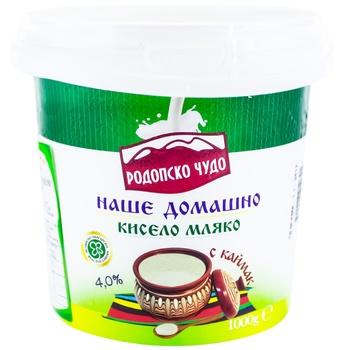 Йогурт домашний Родопско Чудо 4,0% 1кг - купить, цены на Метро - фото 1