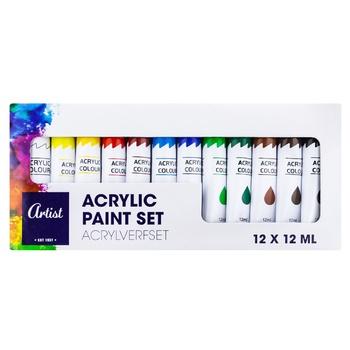 Акриловая краска Artist 12x12мл - купить, цены на Метро - фото 1