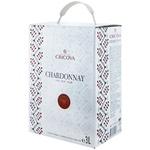 Вино Cricova National Шардоне белое сухое bag in box 3л