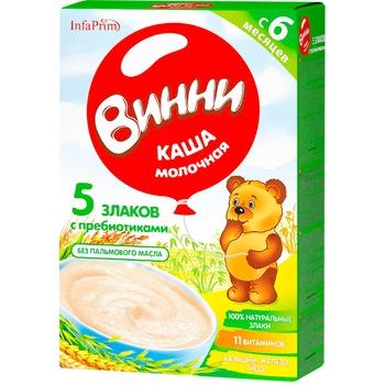 Каша Винни 5 злаков с молоком 200г - купить, цены на Метро - фото 1