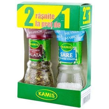 Специй для салата Kamis в мельнице 38г + Соль в подарок - купить, цены на Метро - фото 1