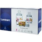 Набор из 3 банок для хранения с принтом Luminarc