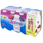 Iaurt de baut Actimel cu fructe de padure 100ml 6+2buc