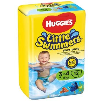 Подгузники для плаванья Huggies Little Swimmers 7-15кг 12шт - купить, цены на Метро - фото 1