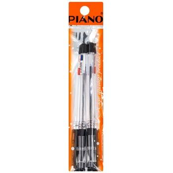 Набор ручек Piano PT-111 черные 2шт - купить, цены на Метро - фото 1