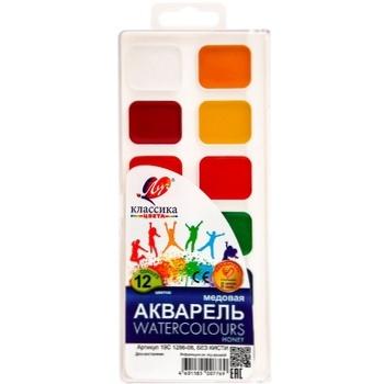 Краски Луч акварельные классика 12цв - купить, цены на Метро - фото 1