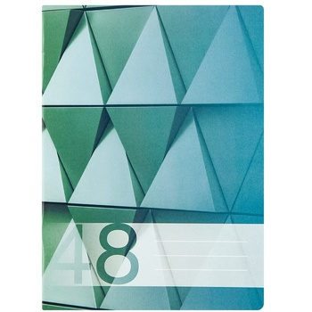 Тетрадь клетка Euro А5 48л - купить, цены на Метро - фото 3