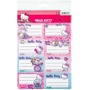 Самоклеящиеся этикетки 5 штук Hello Kitty - купить, цены на Метро - фото 1