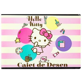 Тетрадь для рисования Hello Kitty 24 листа - купить, цены на Метро - фото 1