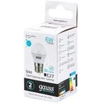GAUSS BEC LED 6W E27 41K  G45